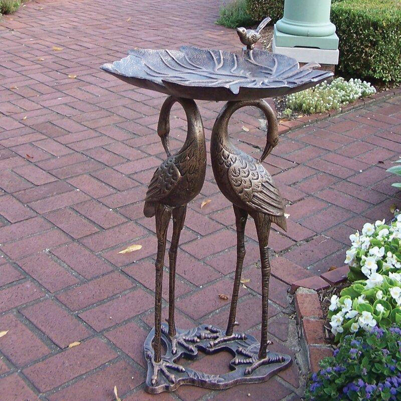 2 Crane Lily Birdbath