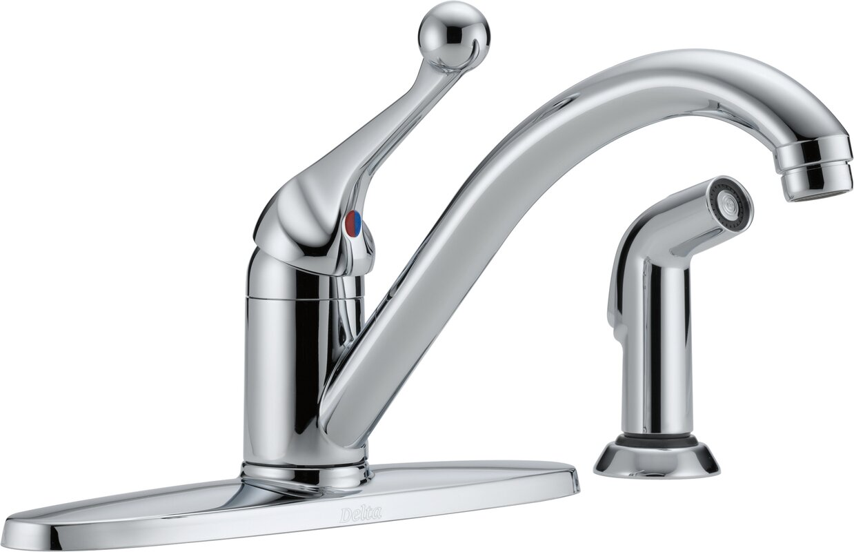 Core 100/300/400 Series Single Handle Standard Kitchen Faucet with Side Spray and Diamond Seal Technology