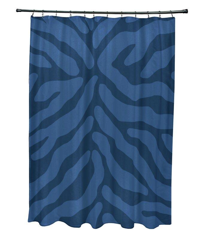 Kam Animal Print Single Shower Curtain