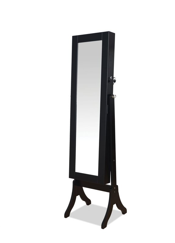 Hylda Free Standing Jewelry Armoire with Mirror