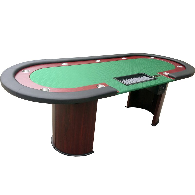 "96"" Texas Hold'em Wooden Legs Poker Table"