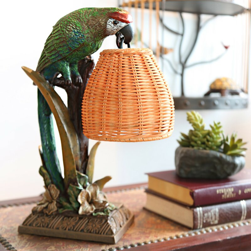 """Snell Welcoming Parrot 13.8"""" Table Lamp"""