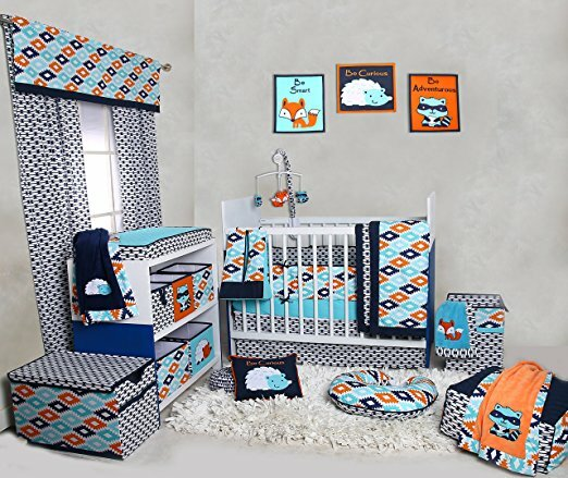 Liam Aztec 10 Piece Crib Bedding Set