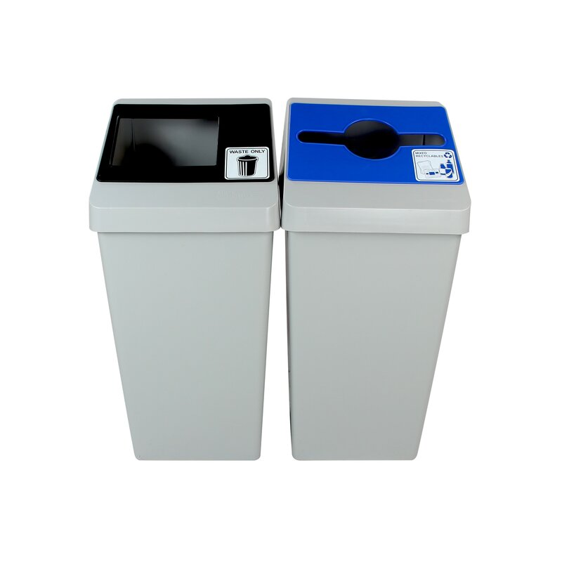 Smart Sort 22 Gallon Multi Compartments Recycling Bin