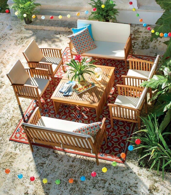 Safira 8 Piece Sofa Set with Cushions