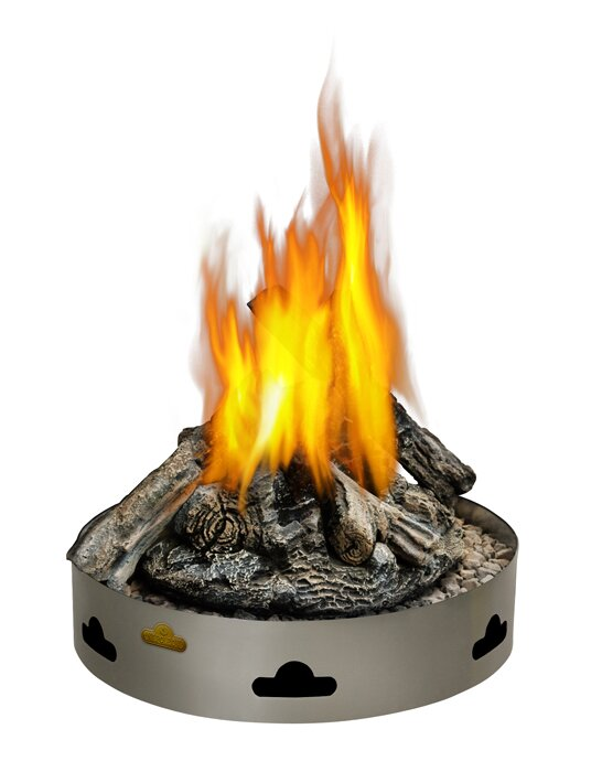 PatioFlame Stainless Steel Propane/Natural Gas Fire Ring