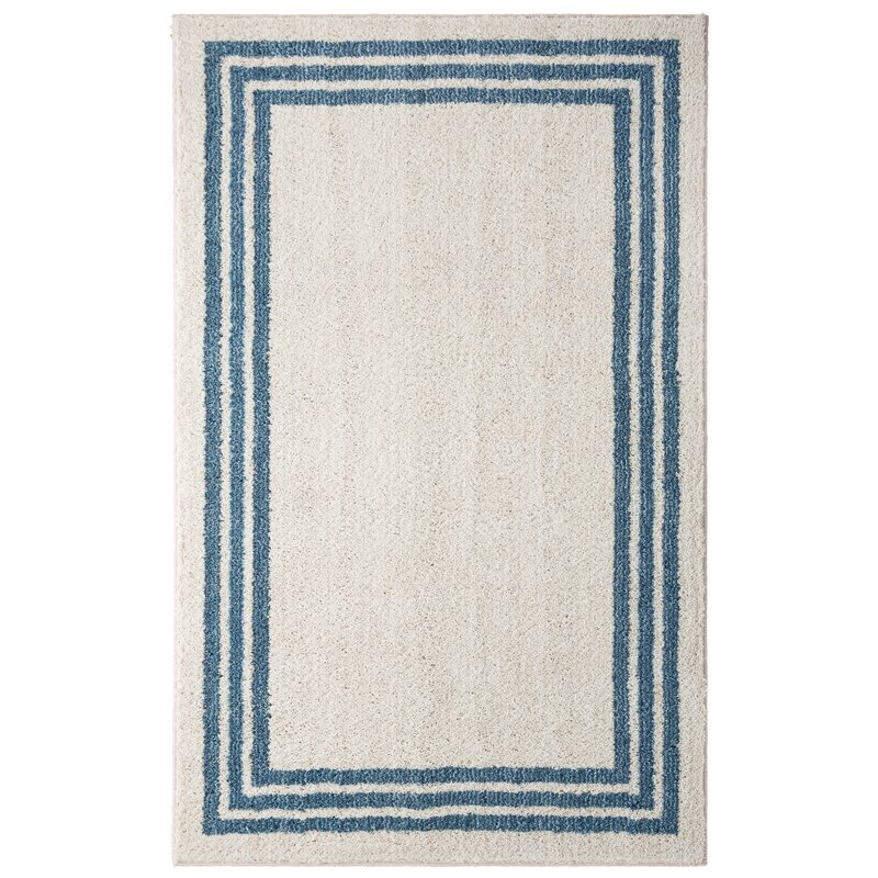 Ziebarth Beige/Indigo Blue Area Rug