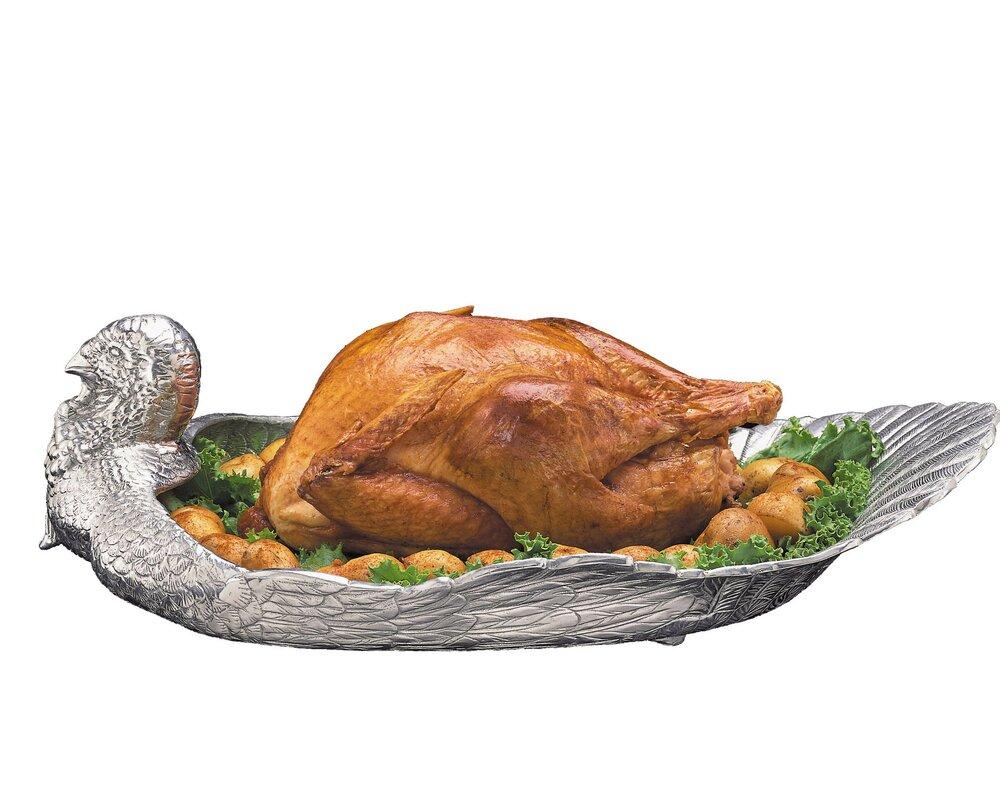 Game Birds Turkey Serving Tray