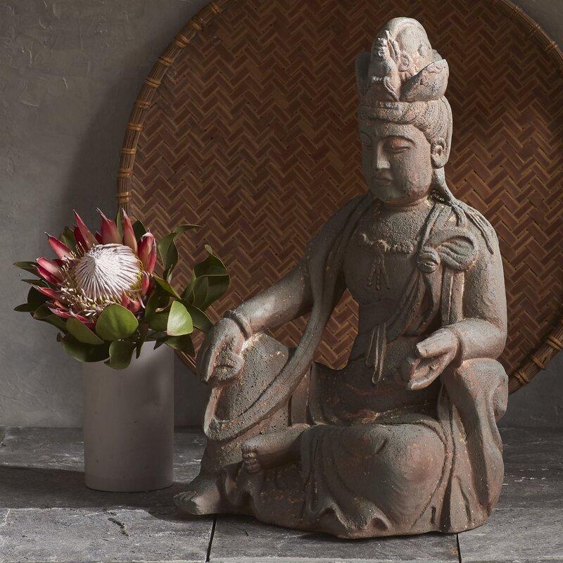 Ancient Buddha Garden Statue