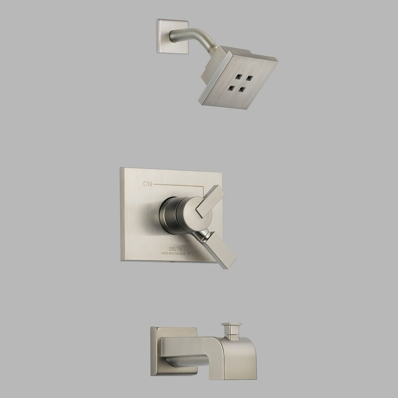 Vero 17 Series Diverter Tub and Shower Faucet Trim with Lever Handle and Monitor