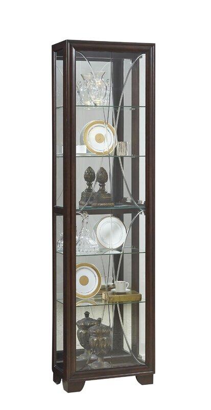 Anaya Lighted Curio Cabinet