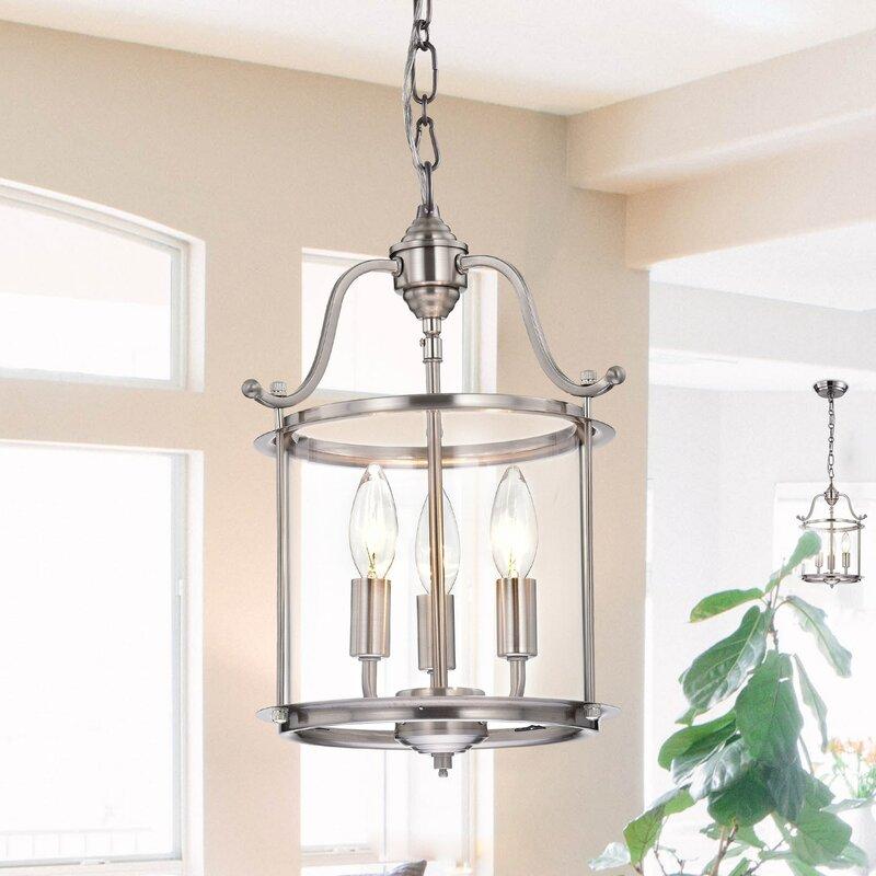 Labarge 3-Light Lantern Cylinder Pendant