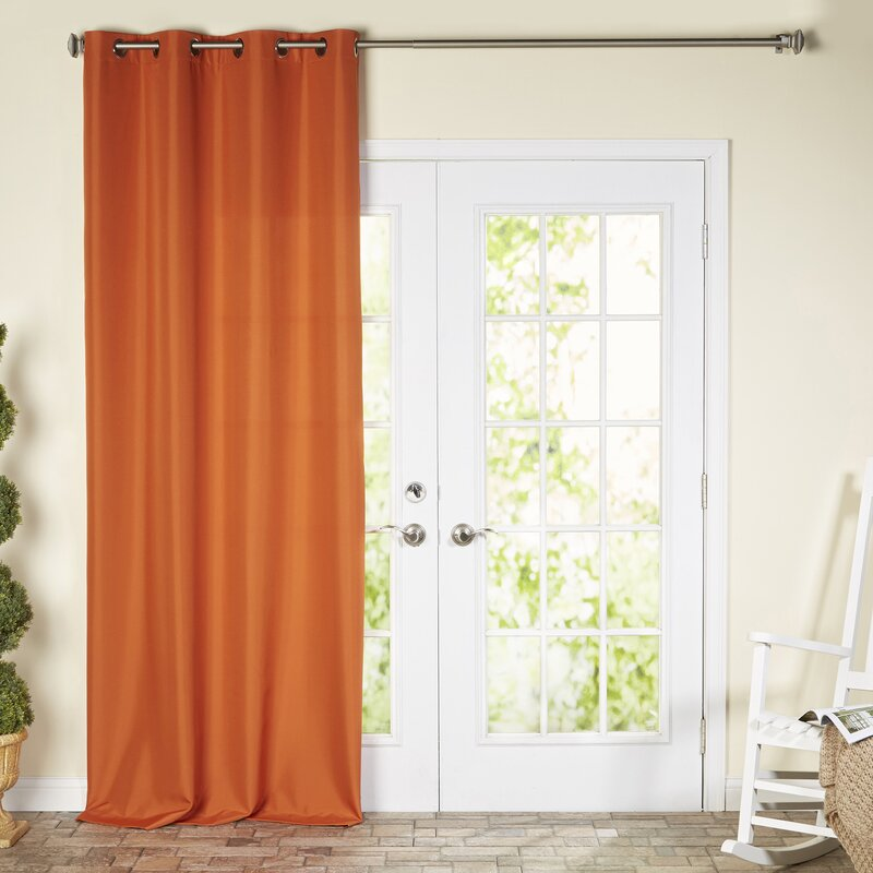Ponce De Leon Solid Color Room Darkening Outdoor Grommet Single Curtain Panel