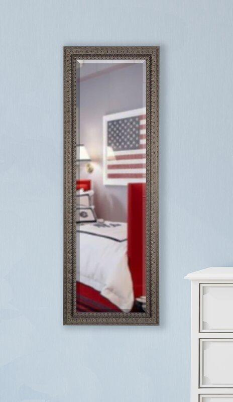 Nakale Dark Embellished Mahogany Full Length Beveled Body Mirror