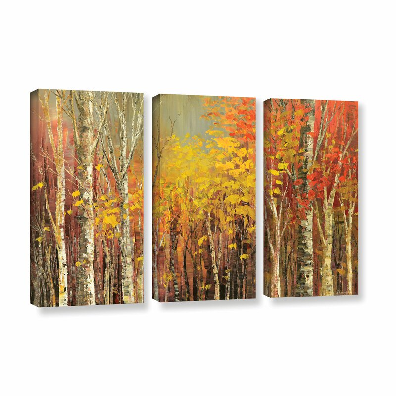 'Tangled Colors' Painting Print Multi-Piece Image on Canvas