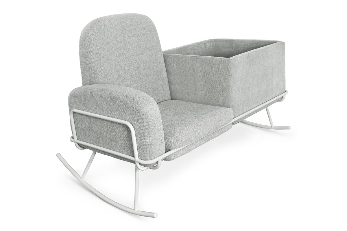 Ami Double Seat Bassinet Glider