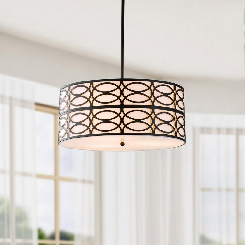 Payeur 3-Light Drum Chandelier