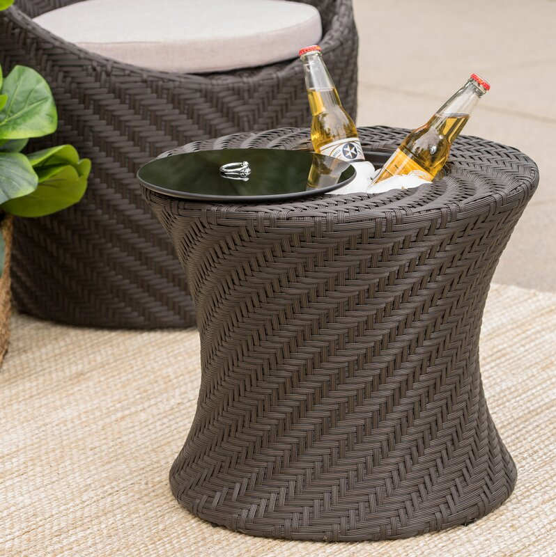 Sommerville Side Table With Ice Bucket