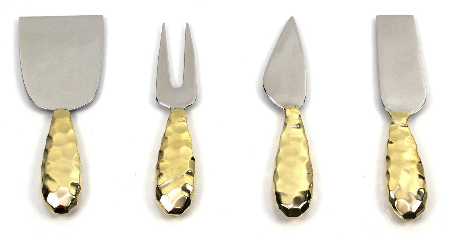 Lotus 4 Piece Cheese Knife Set