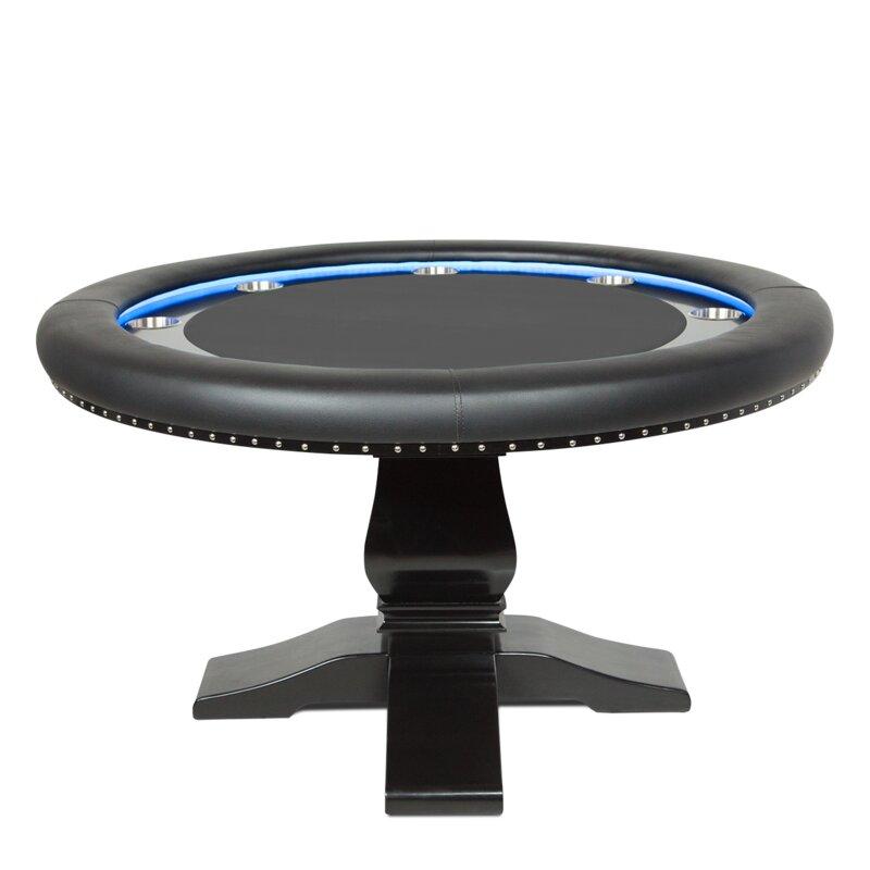 """55"""" L Ginza Velveteen Poker Table"""