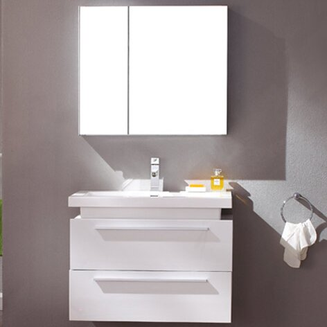 "Senza Medio 31"" Single Bathroom Vanity Set with Mirror"