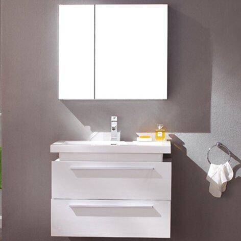 """Senza Medio 31"""" Single Bathroom Vanity Set with Mirror"""