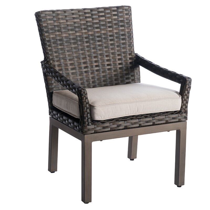 Eibhlin Patio Dining Chair with Cushion (Set of 2)