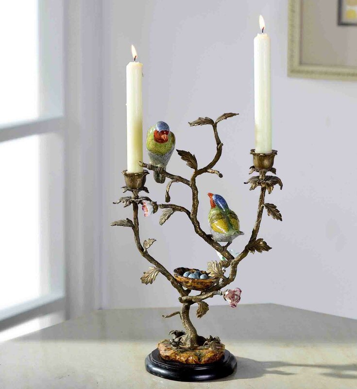 Creative Tree and Birds Candlebra
