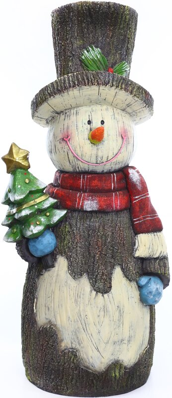 Snowman Statuary Decor