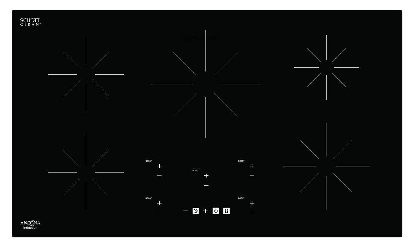 """Chef 36"""" Induction Cooktop with 5 Burners"""