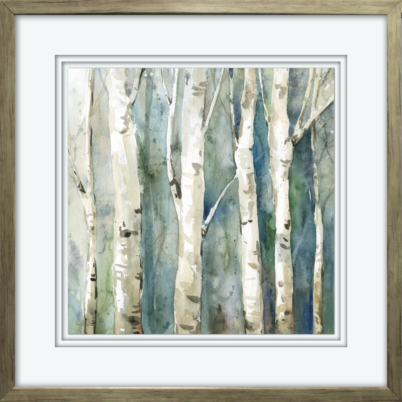 'River Birch II' Framed Acrylic Painting Print