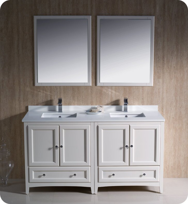 "Oxford 60"" Double Bathroom Vanity Set with Mirrors"