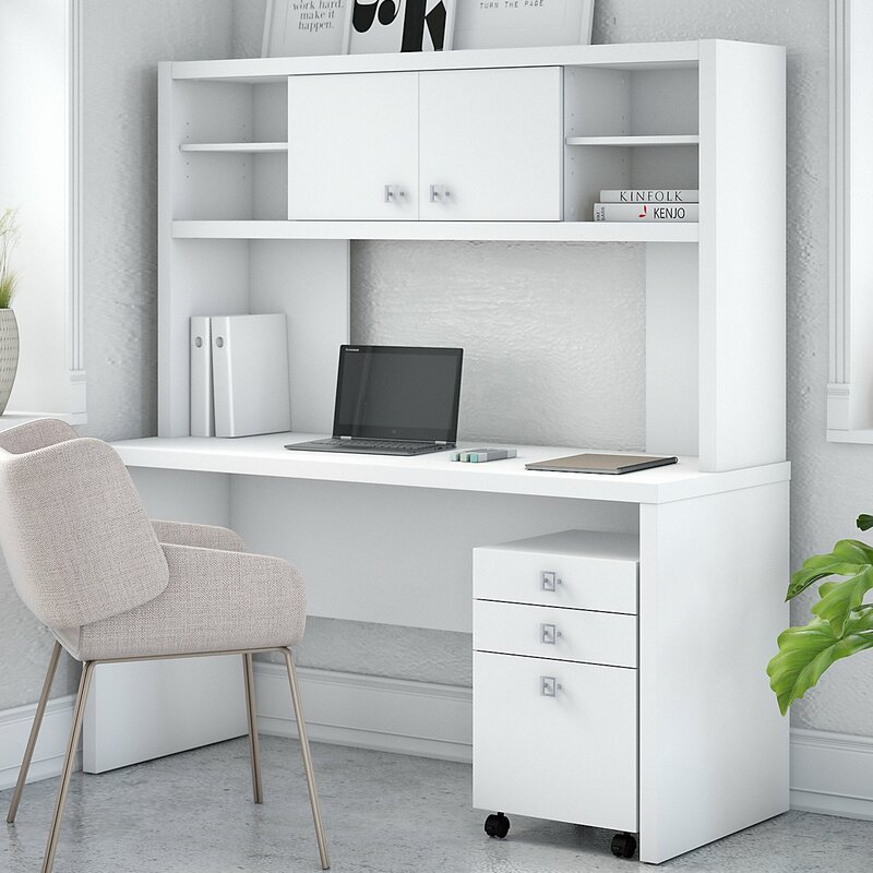 Echo Credenza 3 Piece Desk Office Suite