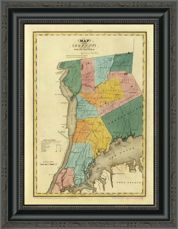'New York - Westchester County; 1829' Framed Print