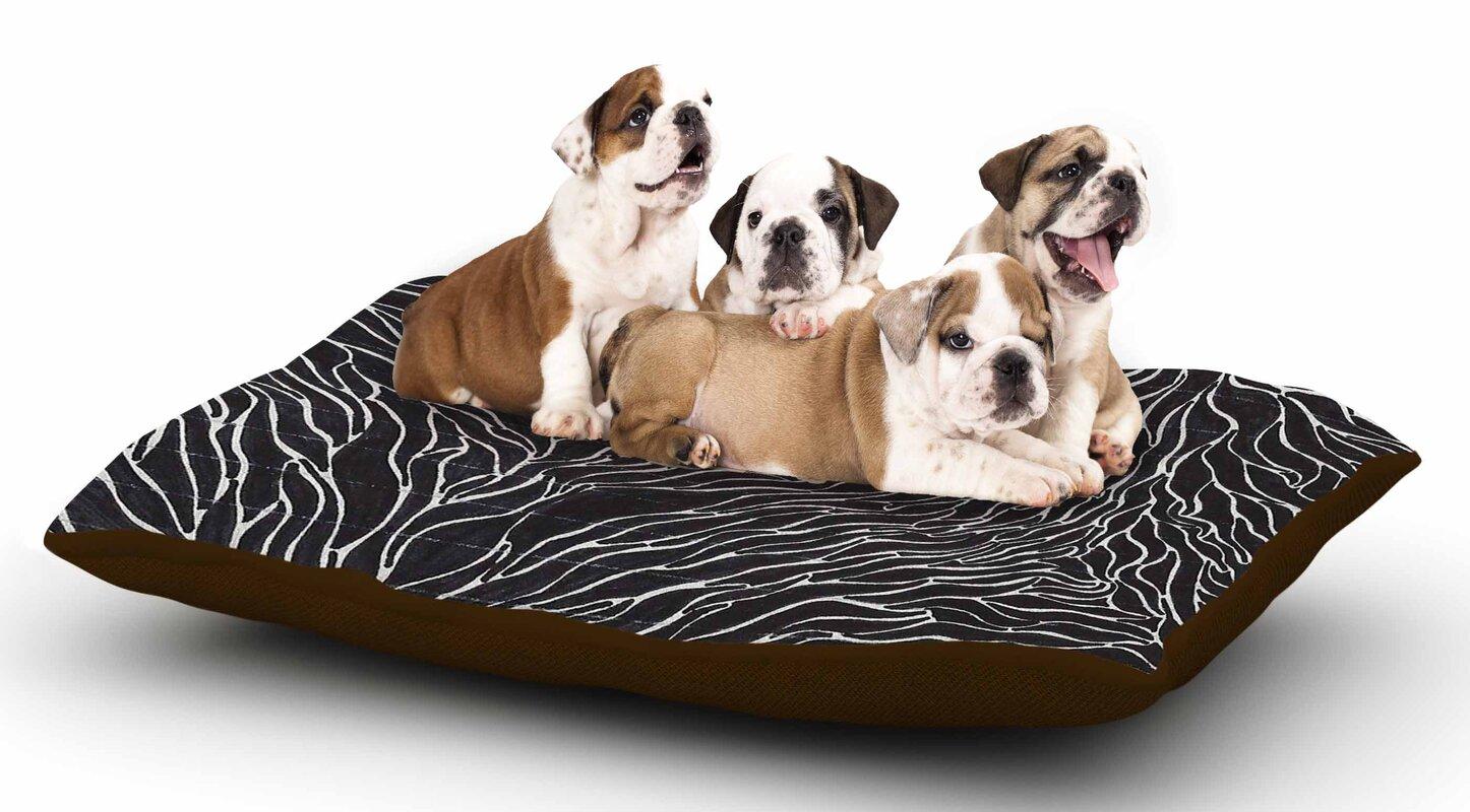 Nl Designs 'Garden Illusion' Dog Pillow with Fleece Cozy Top