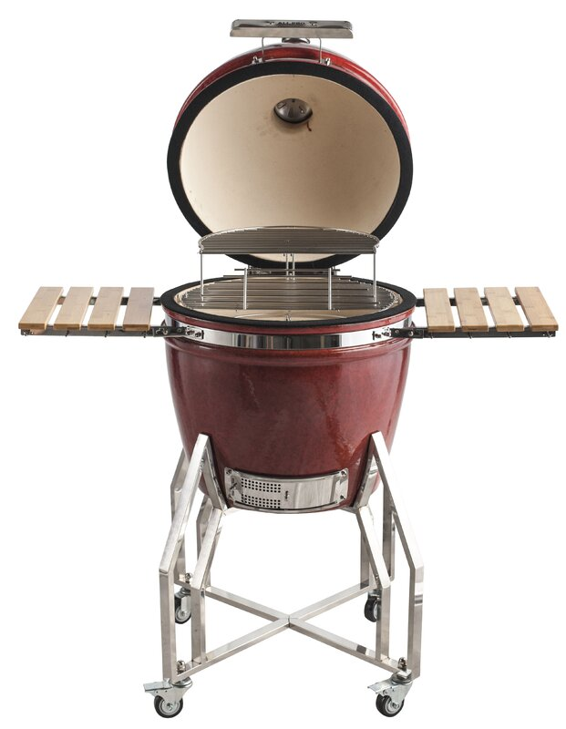 "22"" Premier Backyard Cooker Kamado Charcoal Grill"