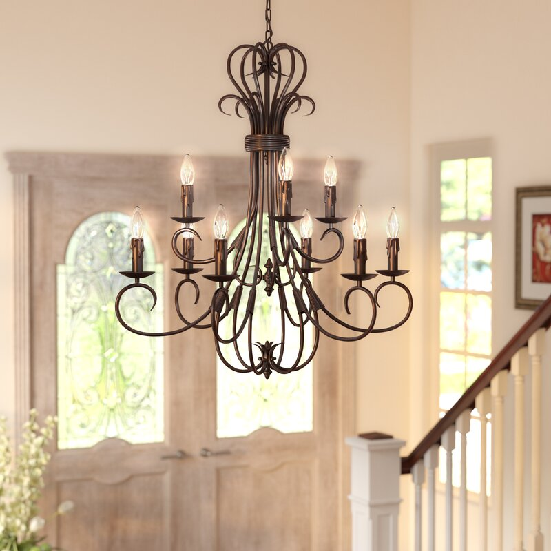 Gaines 9-Light Candle Style Chandelier