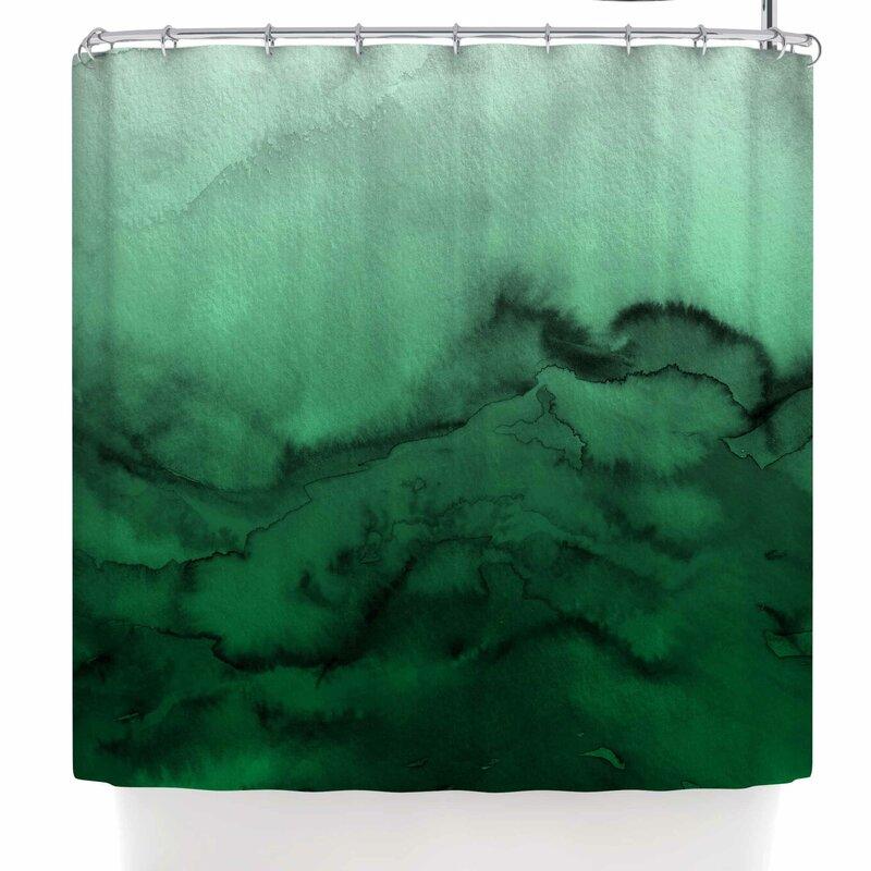 Ebi Emporium Winter Waves 9 Abstract Single Shower Curtain