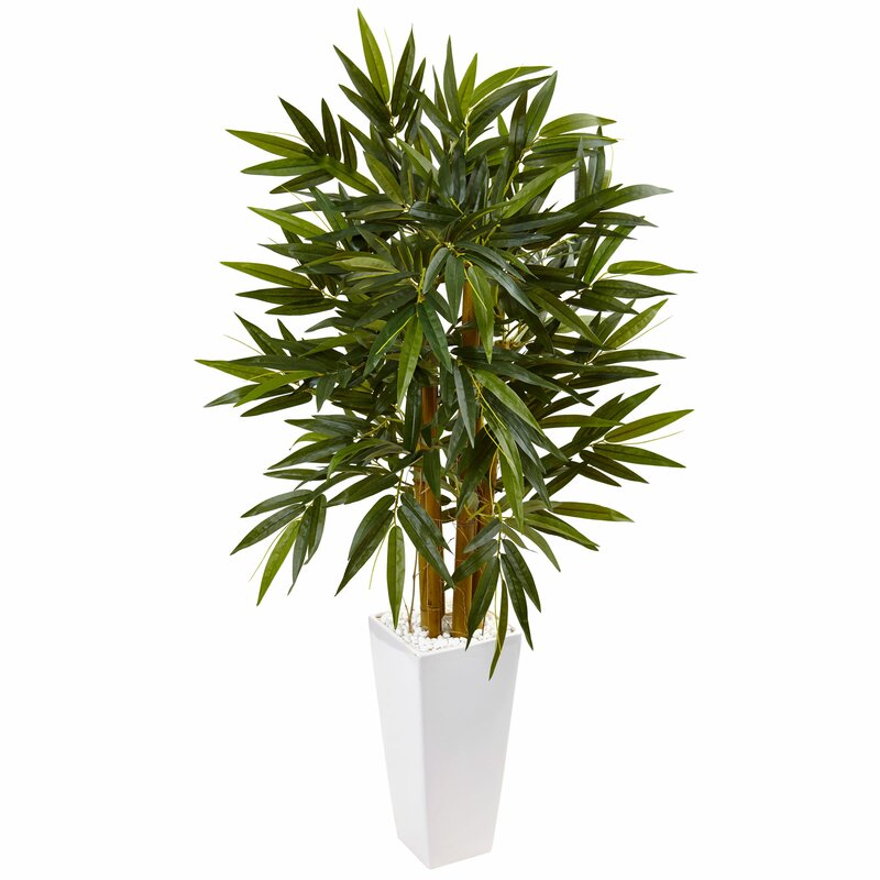 Artificial Faux Floor Bamboo Tree in Ceramic Planter