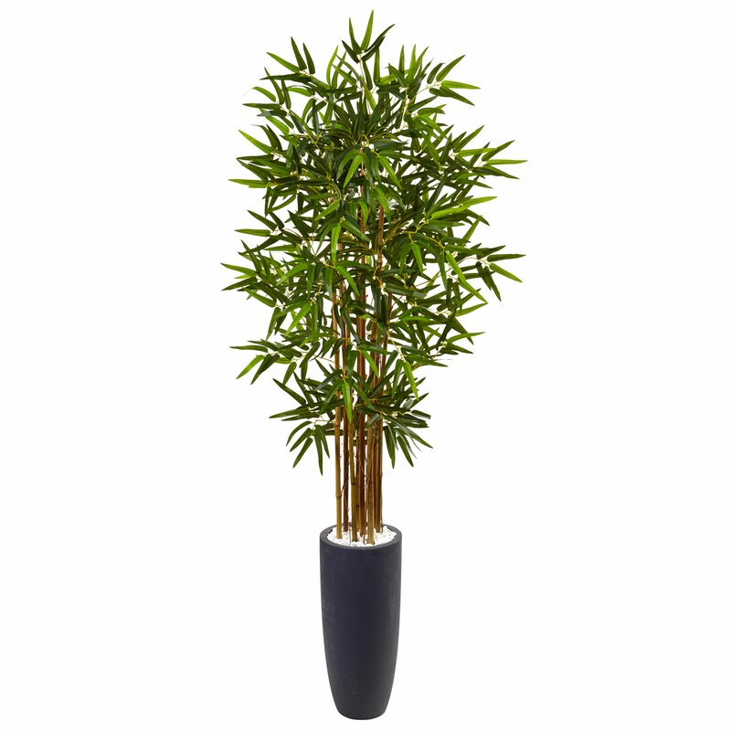 Artificial Faux Floor Bamboo Tree in Cylinder Planter