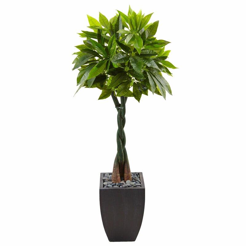 Money Artificial Floor Foliage Tree in Planter