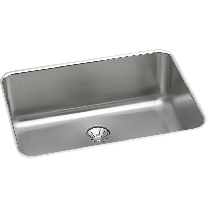 """Lustertone 27""""  x 19"""" Undermount Kitchen Sink with Drain Assembly"""