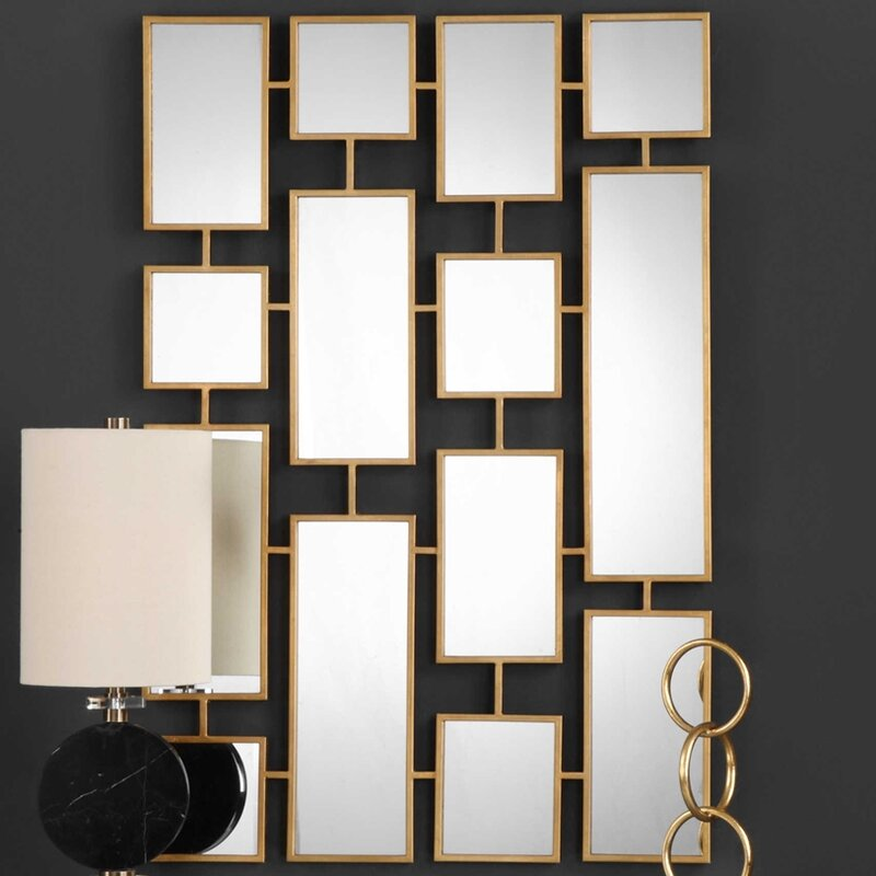 Forged Iron Rectangle Accent Mirror