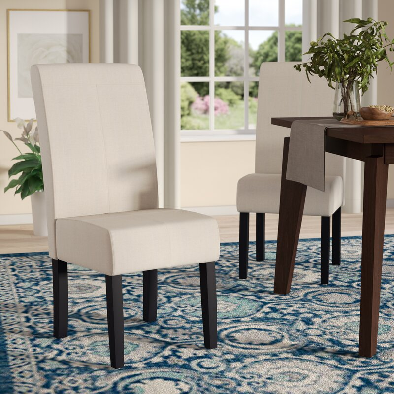 Merrin T-Stitch Upholstered Dining Chair (Set of 2)