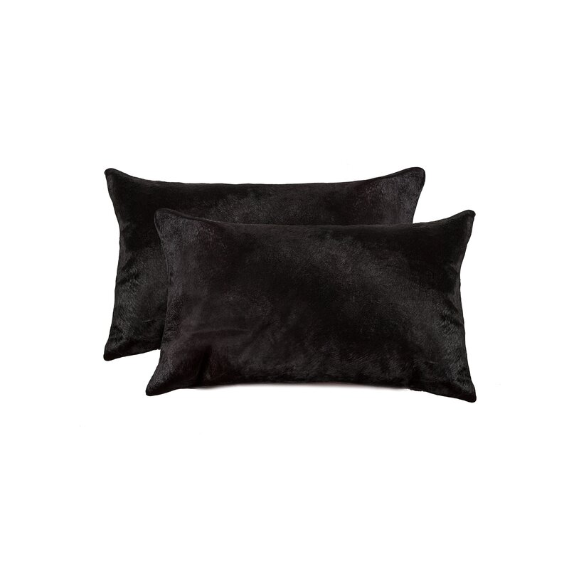 Graham Leather Lumbar Pillow (Set of 2)
