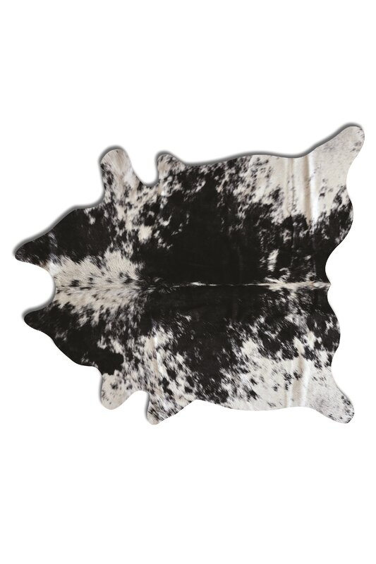 Hancock Hand-Tufted Cowhide Brown/White Area Rug