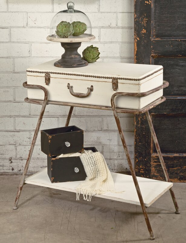 Deonte Suitcase Console Table