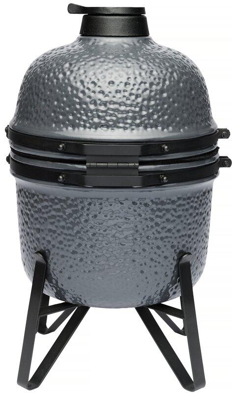 """13"""""""" Kamado Charcoal Grill with Smoker"""