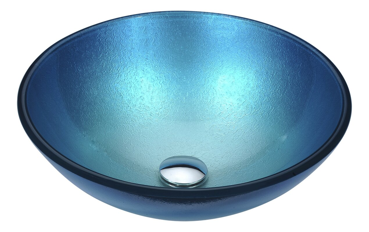 Posh Glass Circular Vessel Bathroom Sink