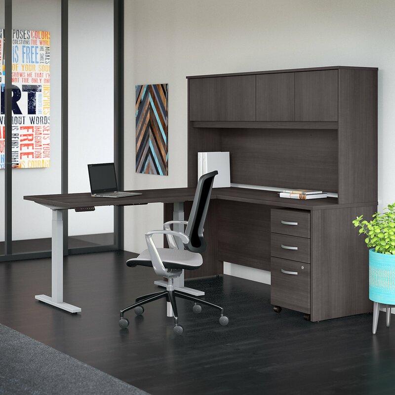 Studio C 4 Piece L-Shaped Desk Office Suite